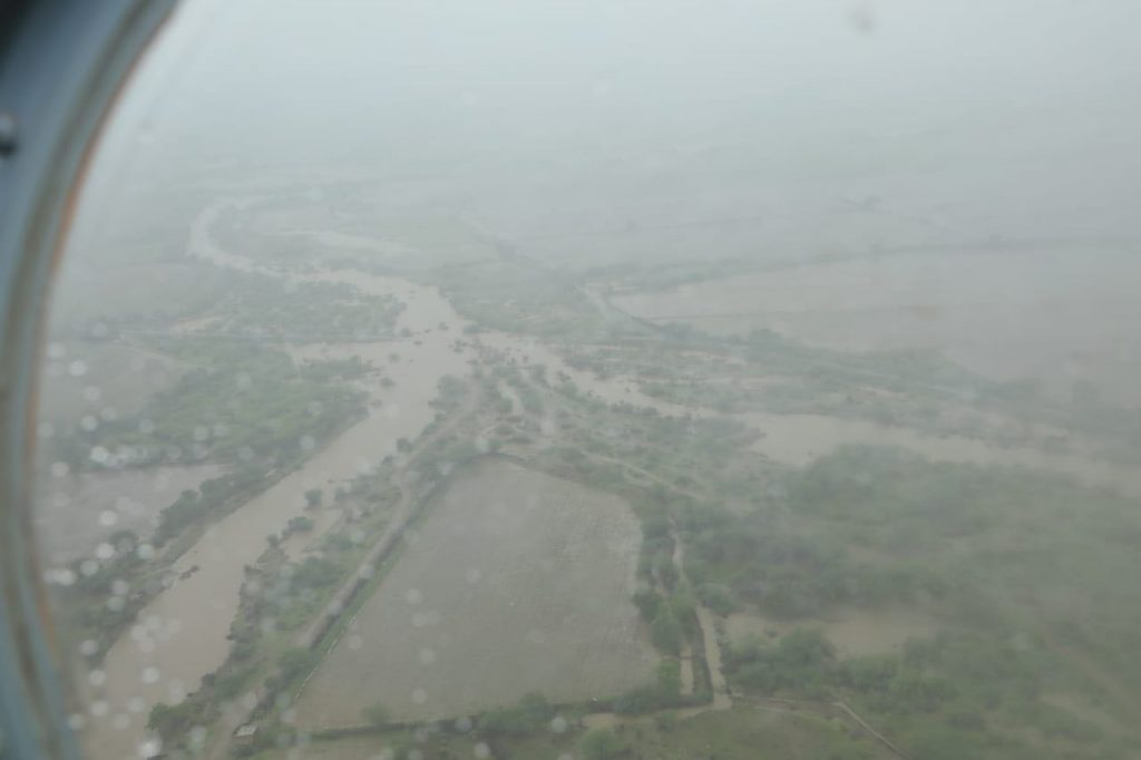 Incessant rains have led to floods in seven districts of south Gujarat and Saurashtra